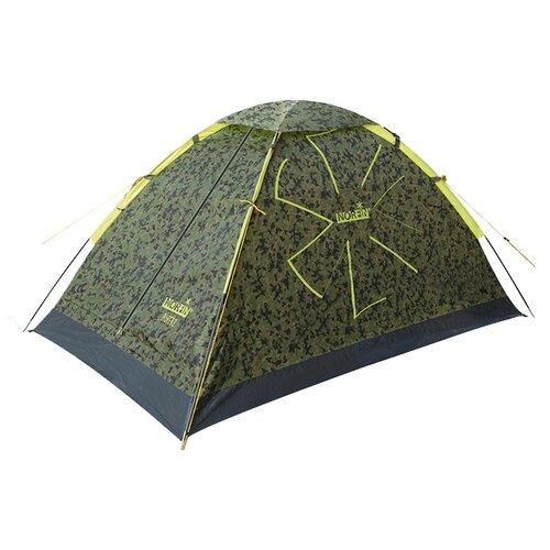 Палатка NORFIN Ruffe 2 зеленый/серый/желтый