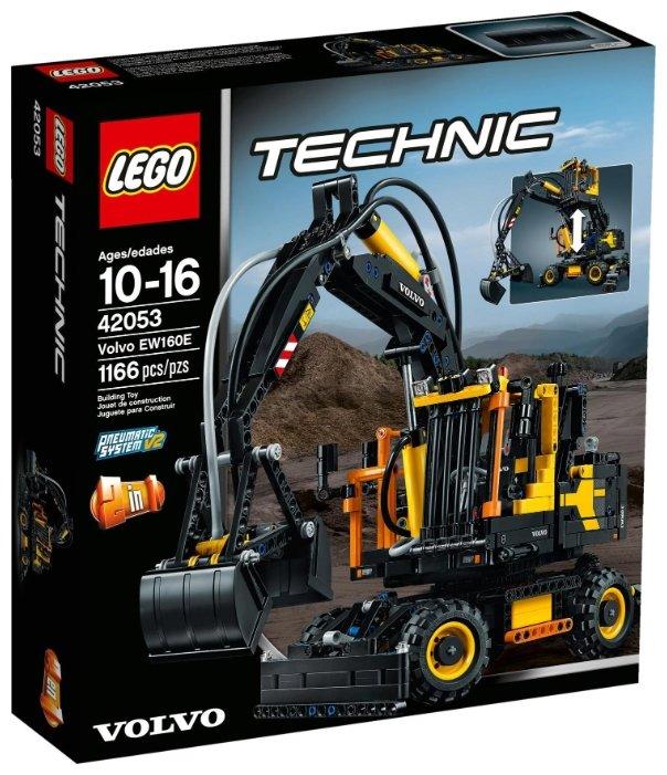 Пневматический конструктор LEGO Technic 42053 Экскаватор Volvo EW 160E фото 1