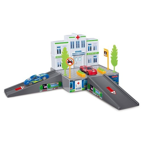 Dave Toy Паркинг Больница 32016 серый/белый/зеленый недорого