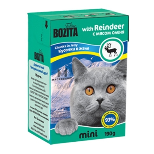 Bozita (0.19 кг) Feline MINI chunks in jelly with Reindeer Корма для кошек