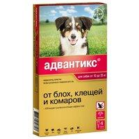 Bayer Адвантикс 250 Капли от Блох/Клещей для собак от 10 до 25кг 4 пипетки(13271)