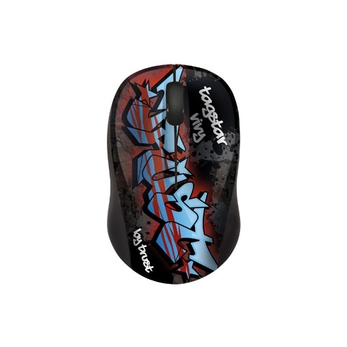 Мышь Trust Vivy Wireless Mini Mouse tagstar graffiti Black-Red USB