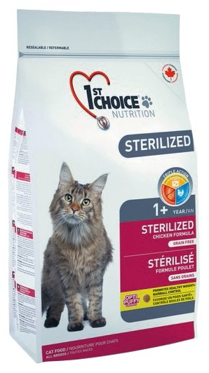 1st Choice STERILIZED for ADULT CATS (5 кг)