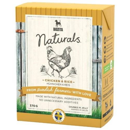Влажный корм для собак Bozita Naturals, курица, с рисом 370г
