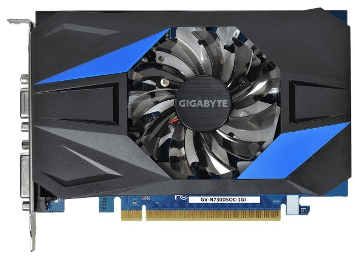 Видеокарта GIGABYTE GeForce GT 730 1066Mhz PCI-E 2.0 1024Mb 5000Mhz 64 bit DVI HDMI HDCP
