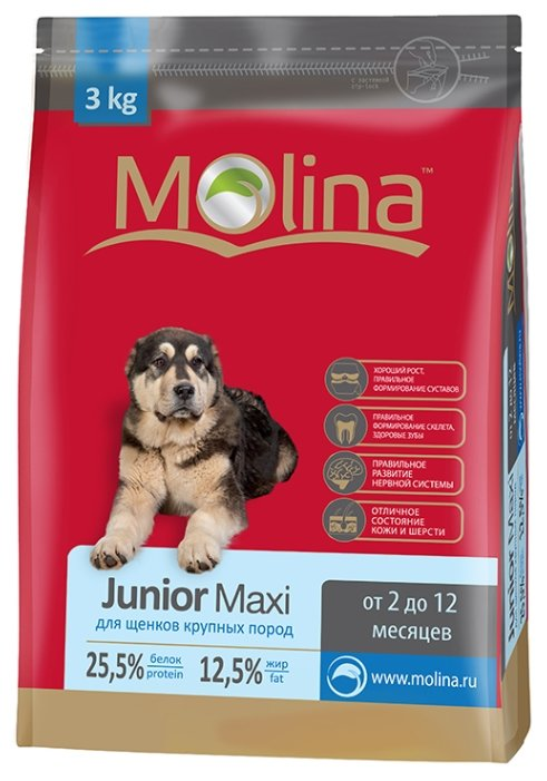 Корм для собак Molina Junior Maxi (3 кг)