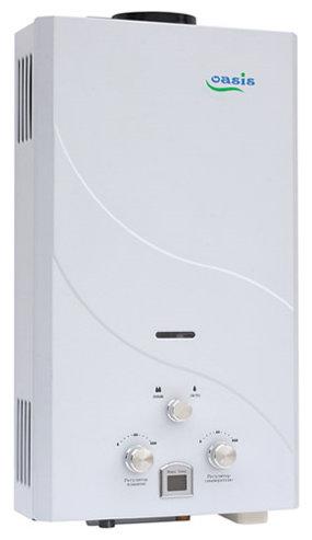 Проточный газовый водонагреватель Oasis 20 кВт белый