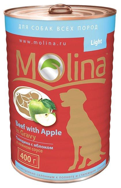 Корм для собак Molina Консервы для собак Говядина с яблоком в нежном соусе