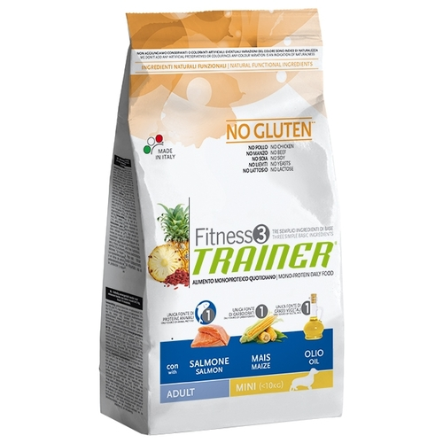 TRAINER Fitness3 No Gluten Adult Mini Salmon and maize dry (2 кг) Лечебные корма