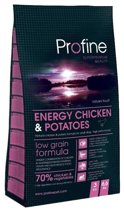 Корм для собак Profine Energy Chicken & Potatoes
