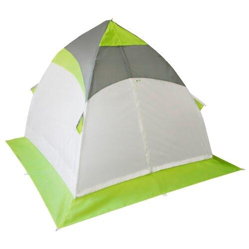 Палатка ЛОТОС 1 для рыбалки белый/зеленый