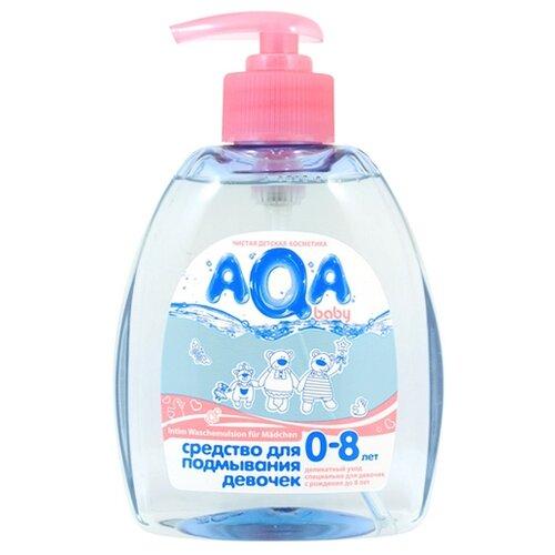 AQA baby Средство для подмывания девочек 300 мл концентрированное средство для мытья ванночек aqa baby с содой 500 мл