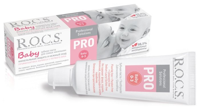 Зубная щётка ROCS для детей Pro Baby от 0 до 3 лет 03-04-022