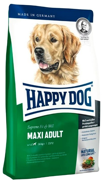 Корм для собак Happy Dog Supreme Fit&Well - Maxi Adult для взрослых собак крупных пород