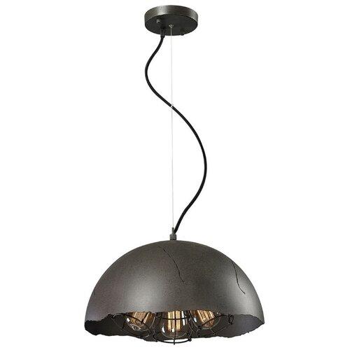Фото - Потолочный светильник Lussole Lockport LSP-9623, E27, 180 Вт, кол-во ламп: 3 шт., цвет арматуры: черный, цвет плафона: черный светильник подвесной lussole серия lsp 9623 lsp 9623 3x60вт e27