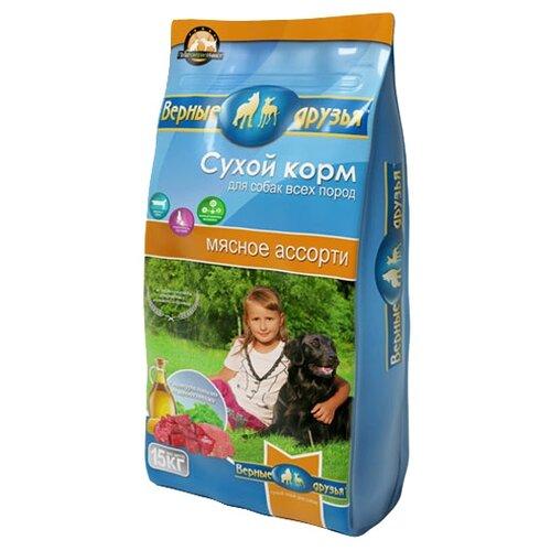 Фото - Сухой корм для собак Верные друзья мясное ассорти 15 кг сухой корм для собак clan 15 кг family сухой корм мясное ассорти 15 кг