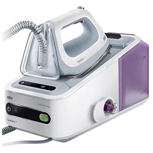 Парогенератор Braun IS 7043 WH белый/серебристый/фиолетовый парогенератор braun is 3044 wh белый серебристый