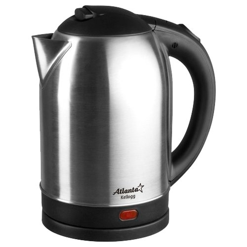 Фото - Чайник Atlanta ATH-2432, серебристый чайник электрический atlanta ath 2461 red
