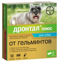 Дронтал (Bayer) плюс таблетки со вкусом мяса для собак (1 таблетка)