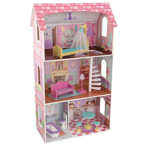 Купить KidKraft кукольный домик Пенелопа 65179, розовый, Кукольные домики