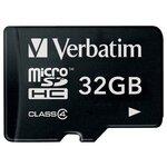 Карта памяти Verbatim microSDHC Class 4