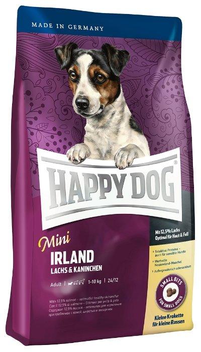 Корм для собак Happy Dog Supreme - Mini Irland для взрослых собак мелких пород с лососем и кроликом