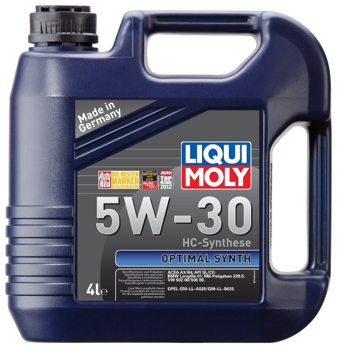 Моторное масло LIQUI MOLY Optimal Synth 5W-30 4 л