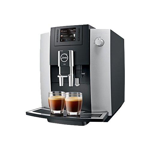 Кофемашина Jura E6 Platin черный/серебристый кофемашина jura z6 satinsilber серебристый черный