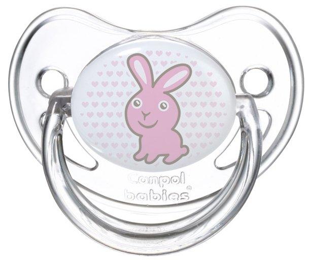 Пустышка силиконовая ортодонтическая Canpol Babies Transparent 6-18 м (1 шт)