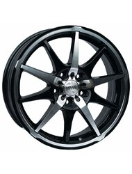 Racing Wheels H-410 7x17 5x108 ET 40 Dia 73.1 BK F/P - фото 1