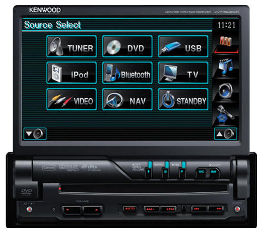 Автомагнитола KENWOOD KVT-524DVD