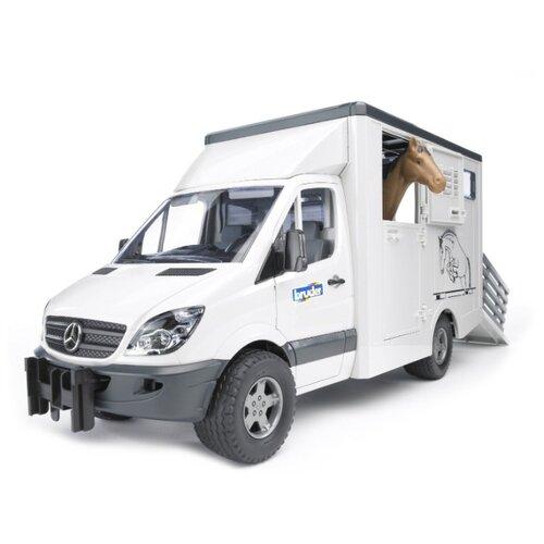 Фургон Bruder с лошадью Mercedes-Benz Sprinter (02-533) 1:16 45.5 см белый/черный игрушка bruder mercedes benz самосвал 03 623