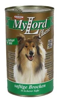 Корм для собак Dr. Alder`s МОЙ ЛОРД КЛАССИК птица + дичь кусочки в желе Для взрослых собак (0.415 кг) 12 шт.