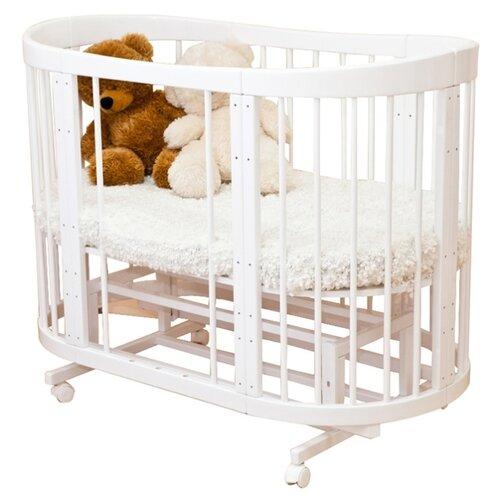 Купить Кроватка Красная Звезда Паулина-2 С422 (трансформер), продольный маятник белый, Кроватки
