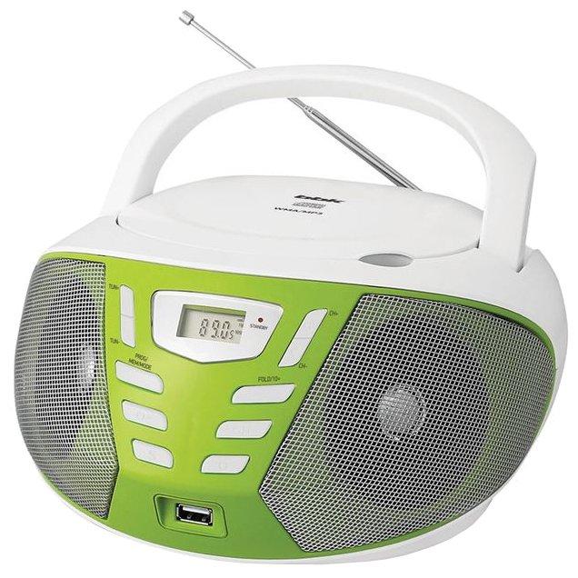 магнитола BBK BX193U белый/зеленый