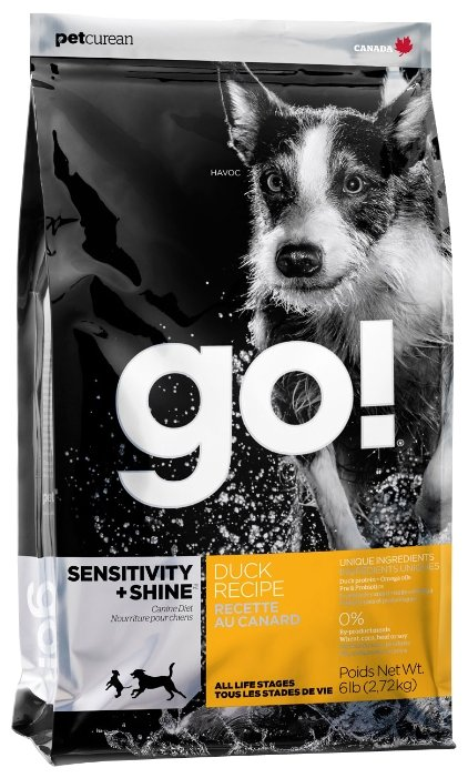 Корм для собак GO! Sensitivity + Shine Duck Dog Recipe