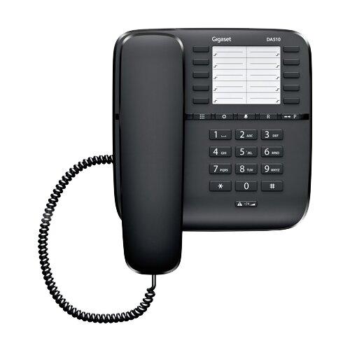 Телефон Gigaset DA510 черныйПроводные телефоны<br>
