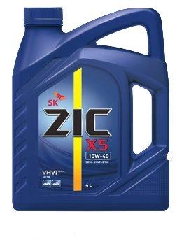 Моторное масло ZIC X5 10W-40 (4 л) Полусинтетика SМ