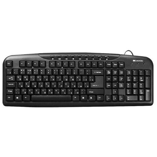 Клавиатура Canyon CNE-CKEY2-RU Black USB портативная акустика canyon cne cbtsp6 black