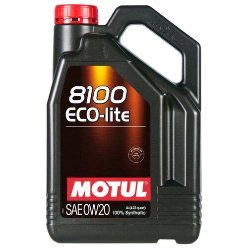 Моторное масло Motul 8100 Eco-lite 0W20 4 л моторное масло motul 8100 eco lite 0w 20 1 л