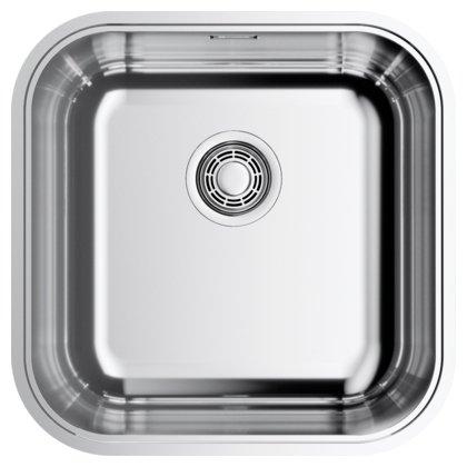 Интегрированная кухонная мойка OMOIKIRI Omi 44-U/IF-IN Quadro 44.5х44.5см нержавеющая сталь