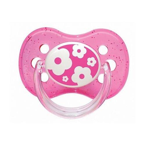 Купить Пустышка силиконовая классическая Canpol Babies Nature 6-18 м (1 шт) розовый, Пустышки и аксессуары