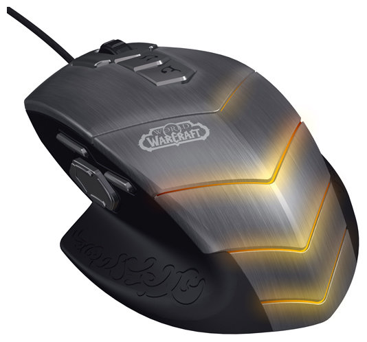 Мышь SteelSeries World of Warcraft MMO Gaming Mouse Grey-Black USB