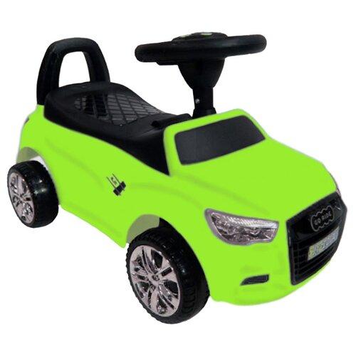 Купить Каталка-толокар RiverToys Audi JY-Z01A со звуковыми эффектами зеленый, Каталки и качалки