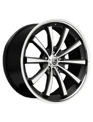 Lexani 10,5x20/5x120 ET35 D74,1 CVX55 Gloss Black/Machined/Chrome Lip - фото 1