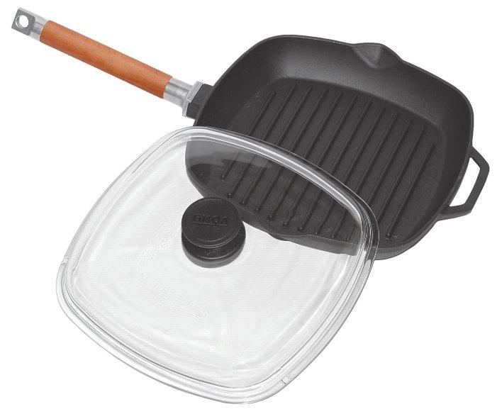 Сковорода-гриль Биол 1026С 26 см с крышкой
