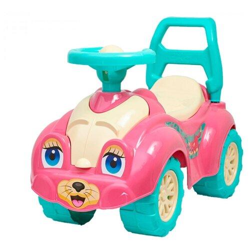 Фото - Каталка-толокар ТехноК Автомобиль для прогулок (0823) со звуковыми эффектами розовый каталки технок автомобиль для прогулок т6665