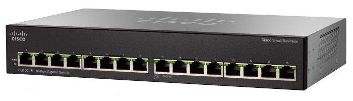 Коммутатор Cisco SG110-16-EU