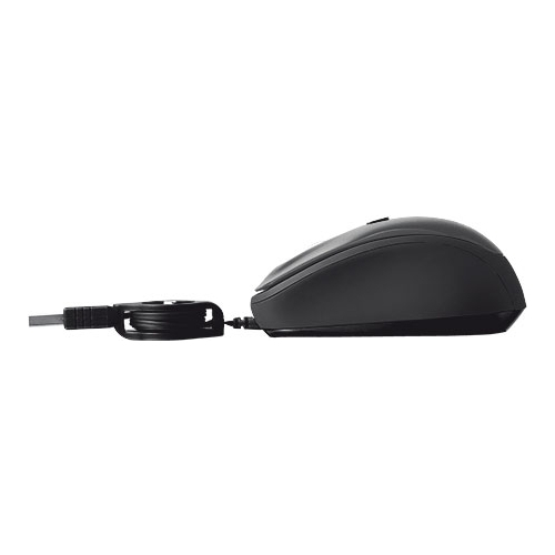 Мышь Trust Yvi Retractable Mouse Black USB