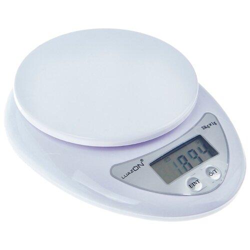 Кухонные весы Luazon LVK-501 белый